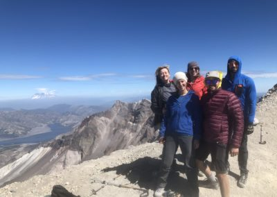 Julie raised over $1600 for LL by climbing Mt St Helens