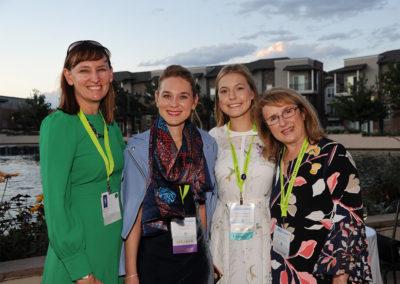 Olivia with (L-R) Dr. Sue Visser, Dr. Elena Frid & Dr. Eva Sapi
