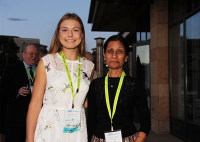 Olivia pictured with Dr. Jyotsna Shah, IGeneX.