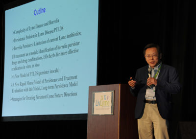 """Developing More Effective Treatments for Persistent Lyme Disease: An Update"" was presented by Dr. Ying Zhang."