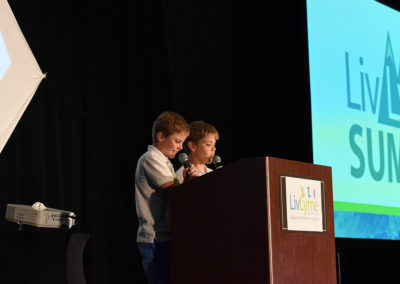 Jack and Will Goodreau captivated the audience  during their TickTockBoom presentation.